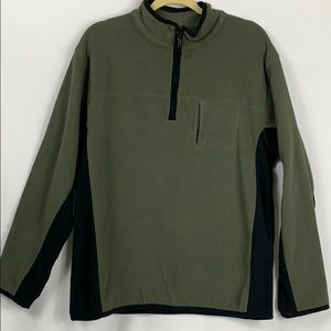 Athletech green fleece 1/4 zip pullover size Sm.